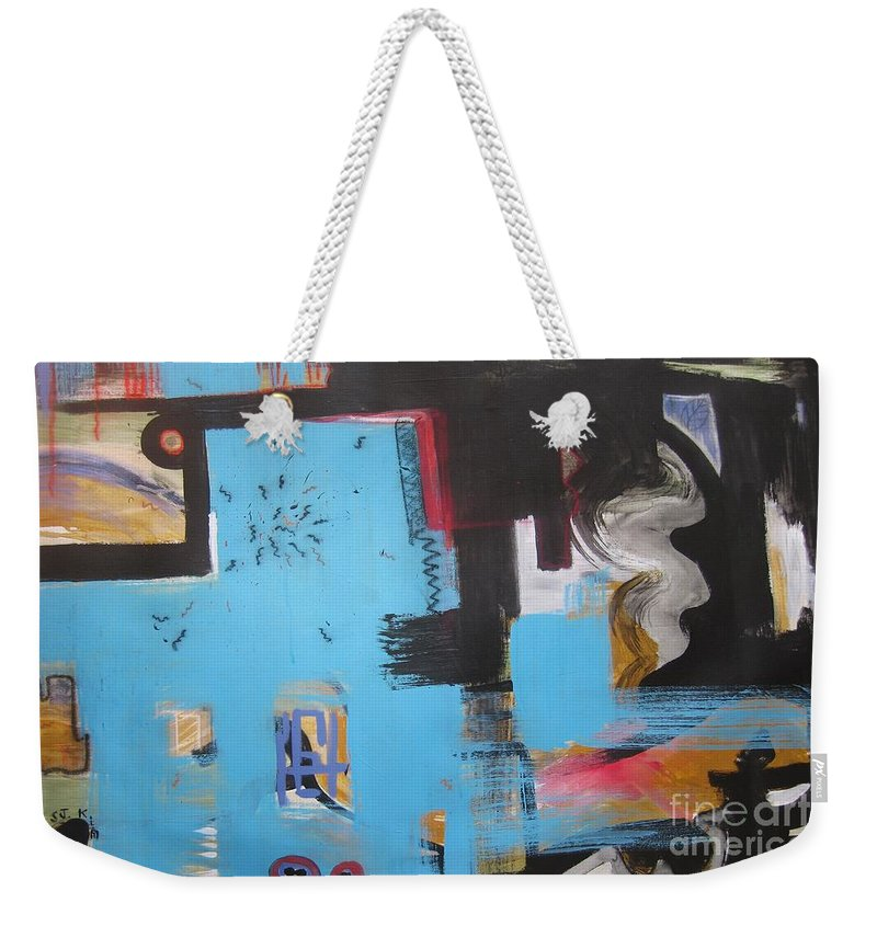 Abstract Weekender Tote Bag featuring the painting A False Painting by Seon-Jeong Kim
