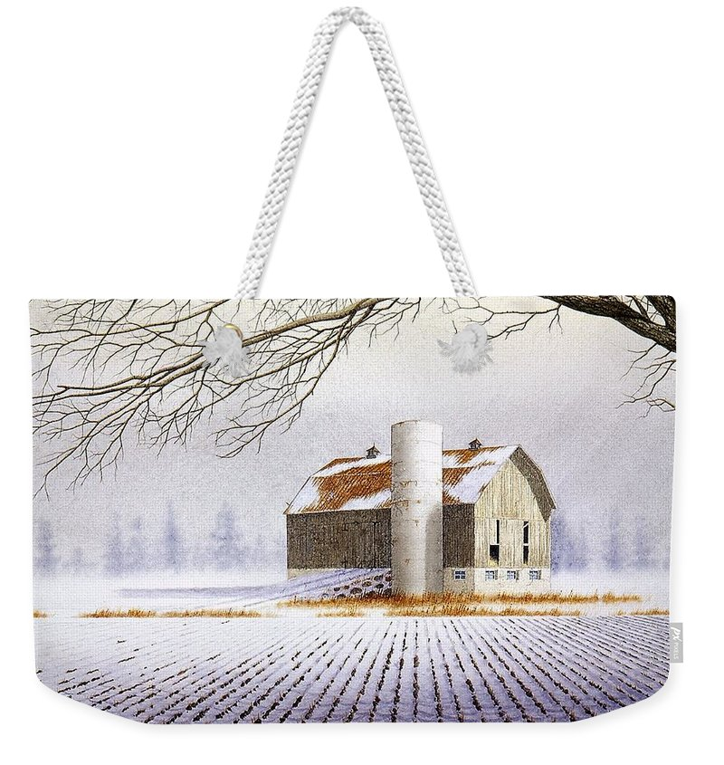 Rural Weekender Tote Bag featuring the painting A Far Distant Feeling by Conrad Mieschke