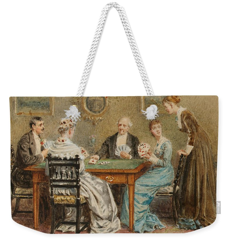 George Goodwin Kilburne A Good Hand Weekender Tote Bag featuring the painting A Good Hand by George Goodwin