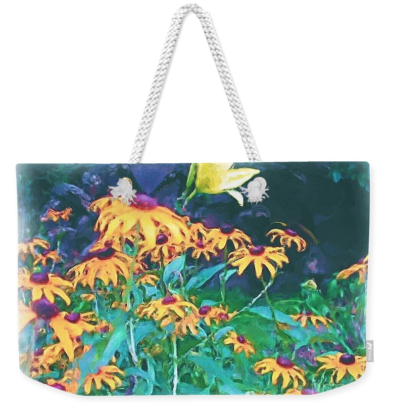 Mixed Media Weekender Tote Bag featuring the painting A Lily In The Field by Patricia Griffin Brett