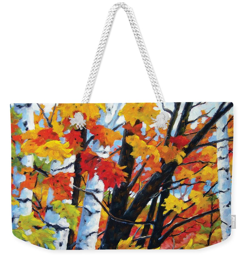 Art Weekender Tote Bag featuring the painting A Touch Of Canada by Richard T Pranke