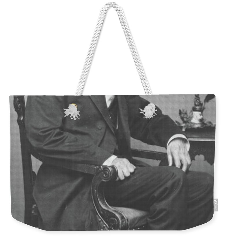 Abraham Weekender Tote Bag featuring the photograph Abraham Lincoln by Alexander Gardner