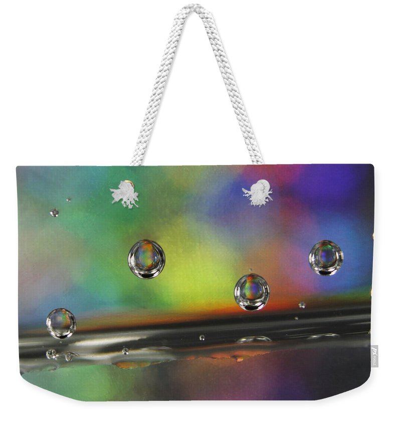 Colorful Weekender Tote Bag featuring the photograph Abstract 021 by Dawn Marshall
