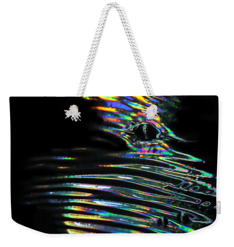 Colorful Weekender Tote Bag featuring the photograph Abstract 32 by Dawn Marshall
