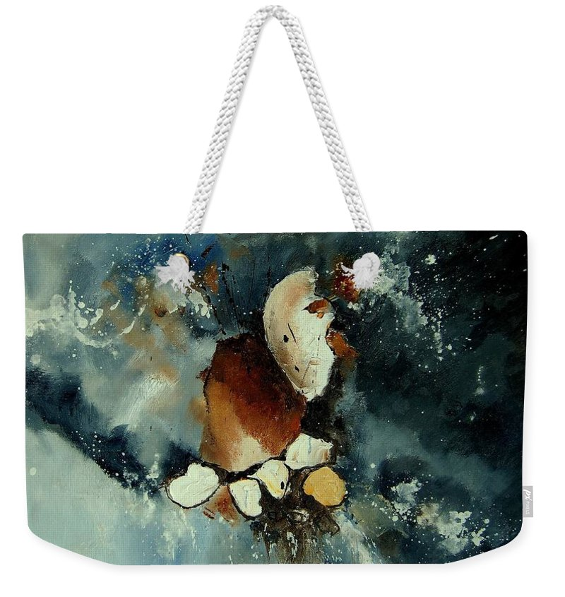Abstract Weekender Tote Bag featuring the painting Abstract 780707 by Pol Ledent