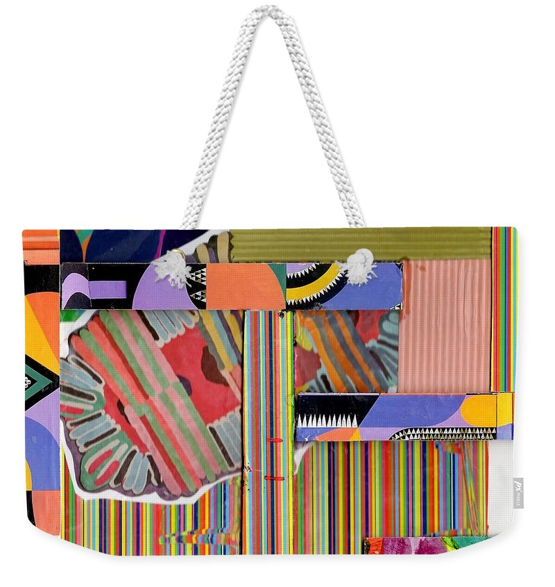 Abstract Art Weekender Tote Bag featuring the drawing Abstract Collage by Paul Meinerth