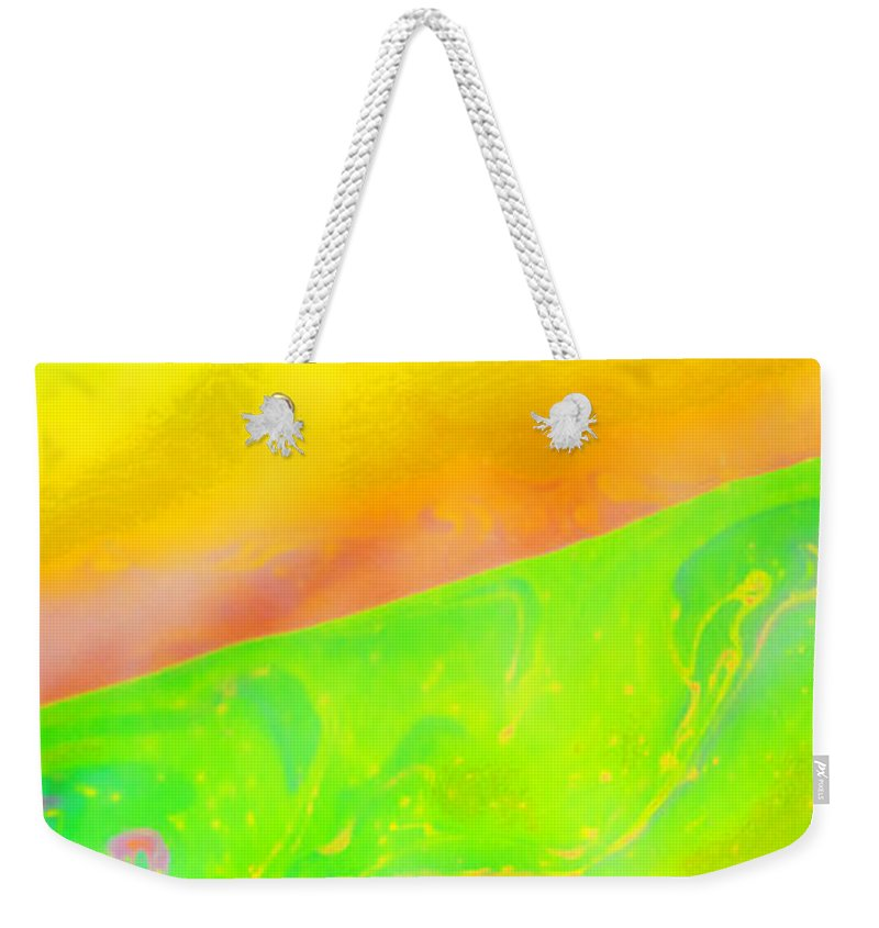 Abstract Weekender Tote Bag featuring the photograph Abstract Colours by Paul Cullen