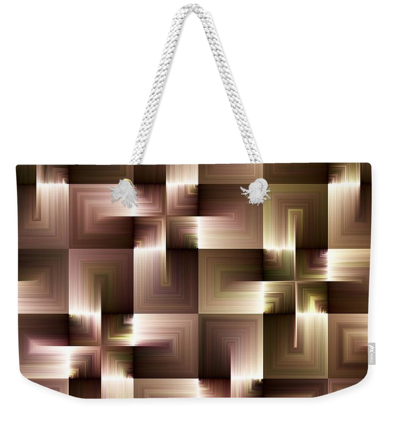 Abstract Weekender Tote Bag featuring the digital art Abstract by Svetlana Sewell