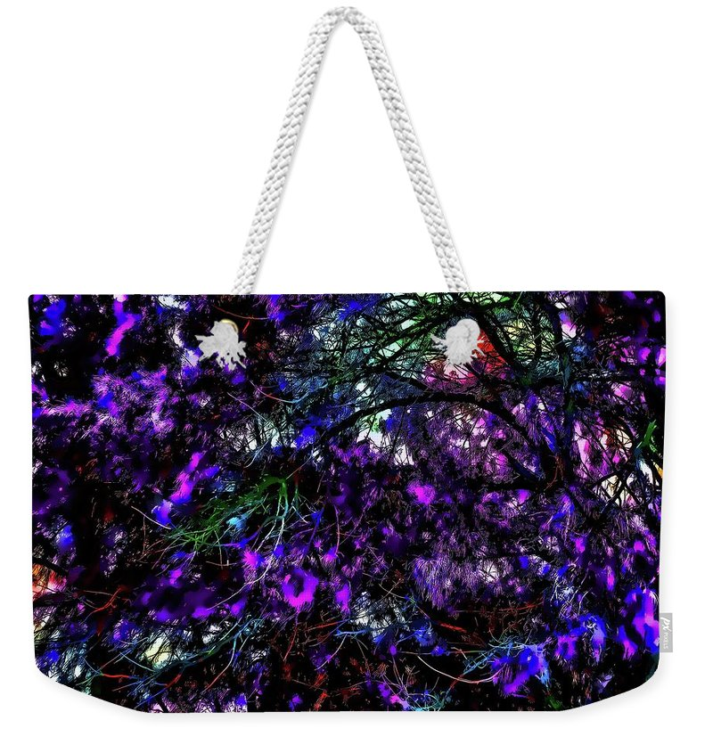 Trees Weekender Tote Bag featuring the photograph Abstract Trees 291 Version 3 by Kristalin Davis