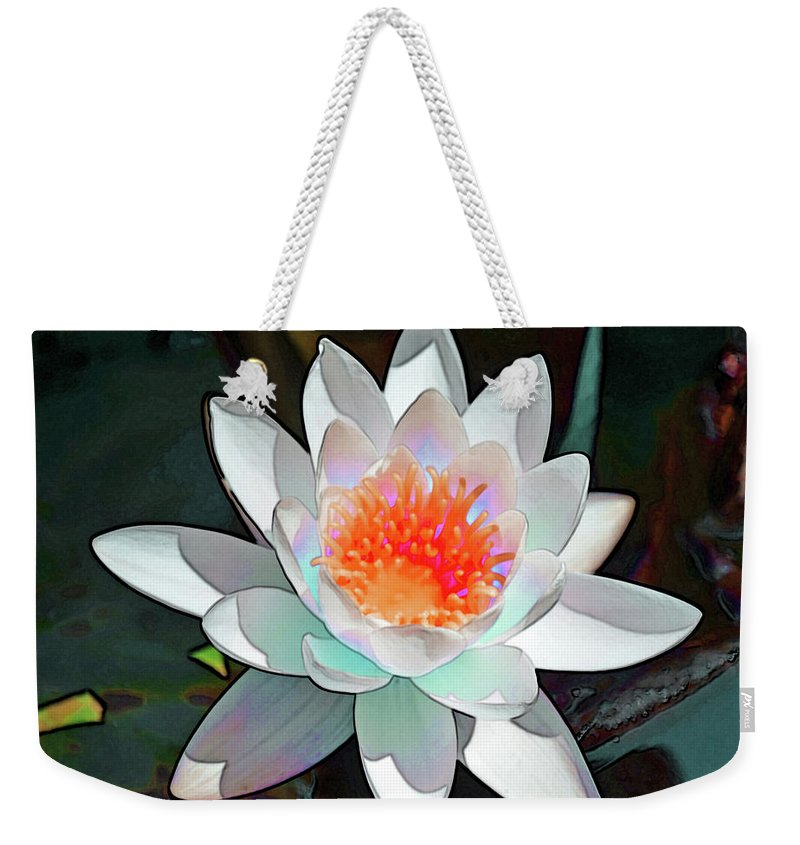 Waterlily Weekender Tote Bag featuring the photograph Abstract Waterlily by Karen Black