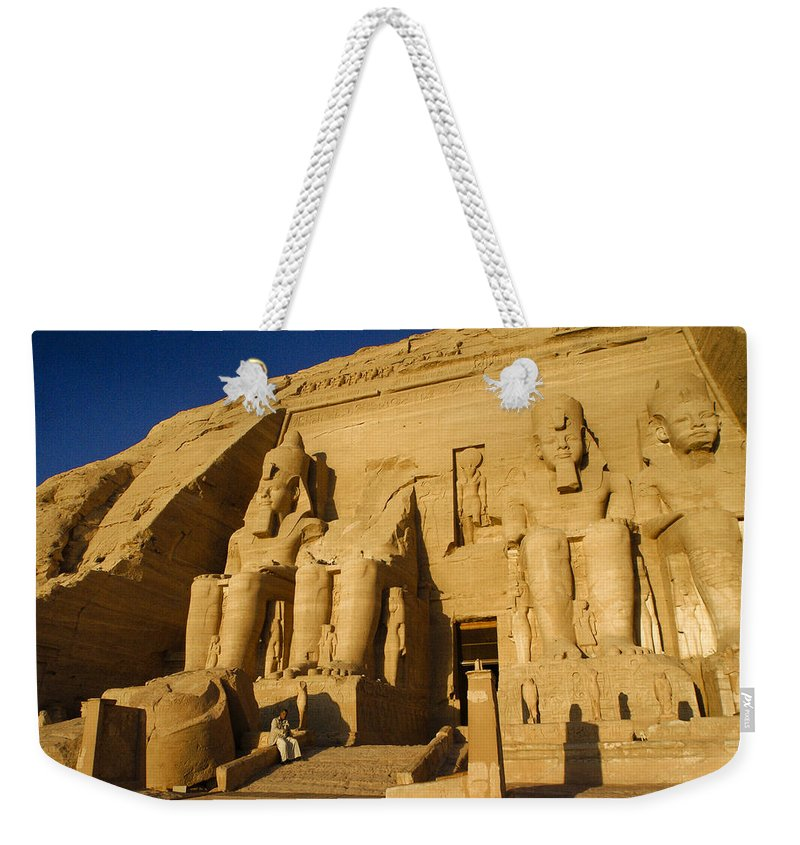 Egypt Weekender Tote Bag featuring the photograph Abu Simbel by Michele Burgess