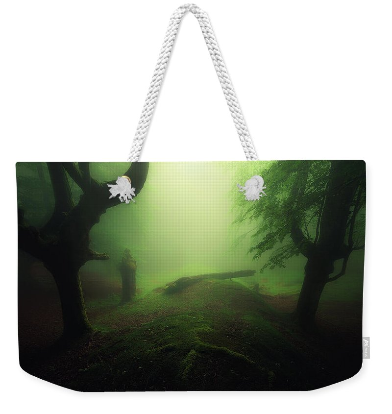 Horror Weekender Tote Bag featuring the photograph Abyss by Mikel Martinez de Osaba