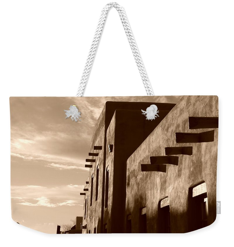 Architecture Weekender Tote Bag featuring the photograph Adobe Sunset by Rob Hans