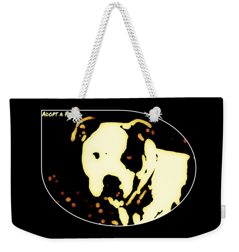 Weekender Tote Bag featuring the photograph Adopt A Friend by Heather Joyce Morrill