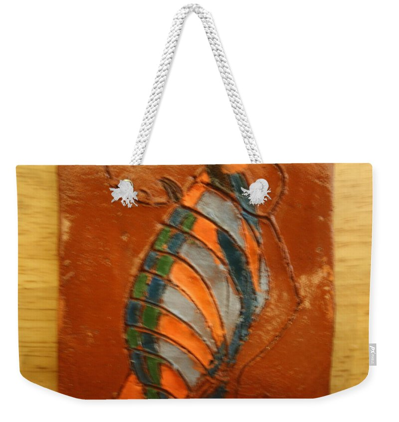 Jesus Weekender Tote Bag featuring the ceramic art Africana - Tile by Gloria Ssali