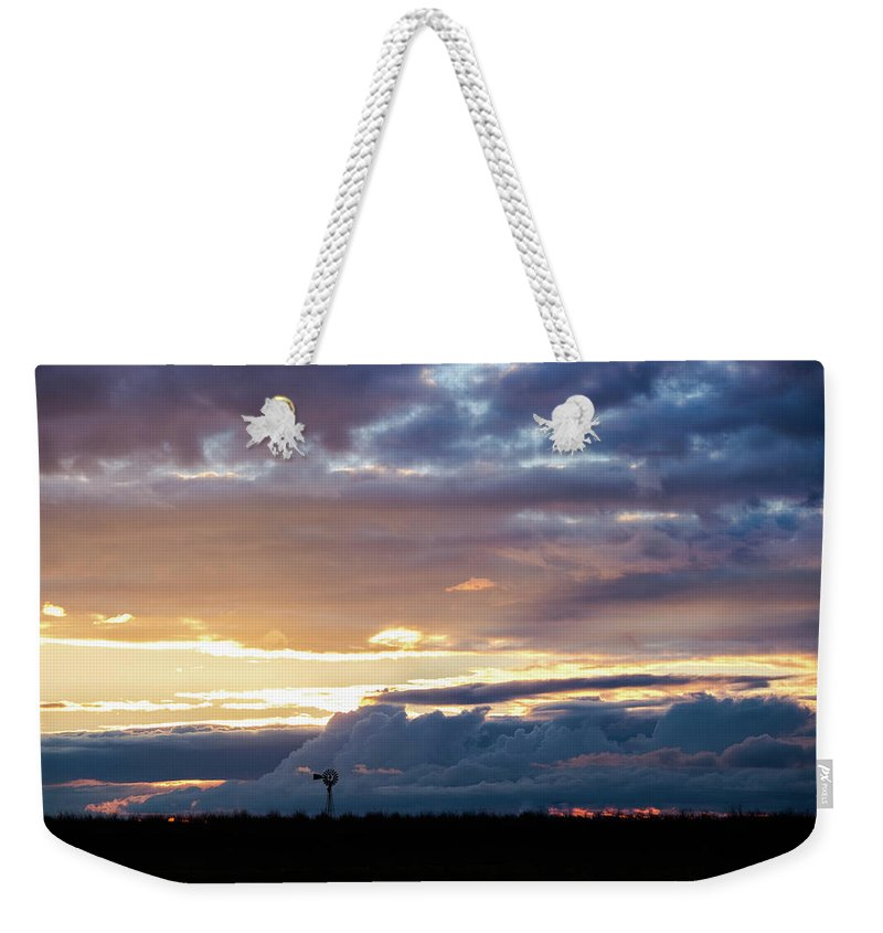 Windmill Weekender Tote Bag featuring the photograph After The Storm by Andra Erickson