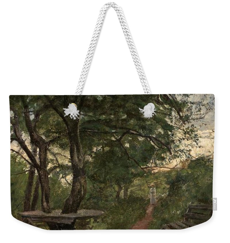 Johan KrouthÉn Weekender Tote Bag featuring the painting Aftonpromenad by MotionAge Designs