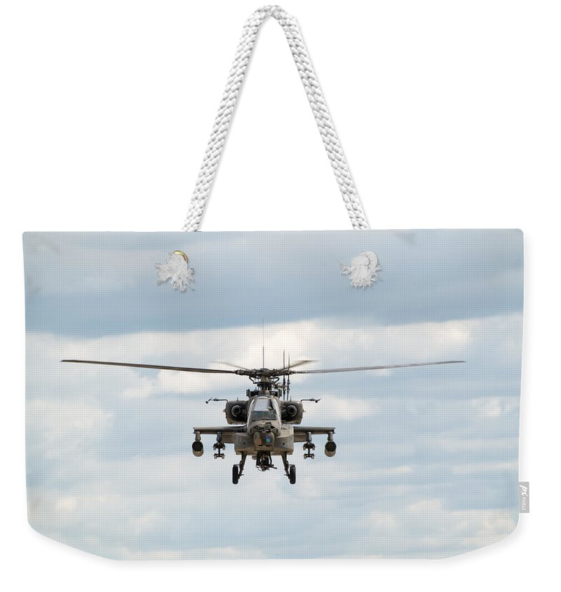 Helicopter Weekender Tote Bag featuring the photograph Ah-64 Apache by Sebastian Musial