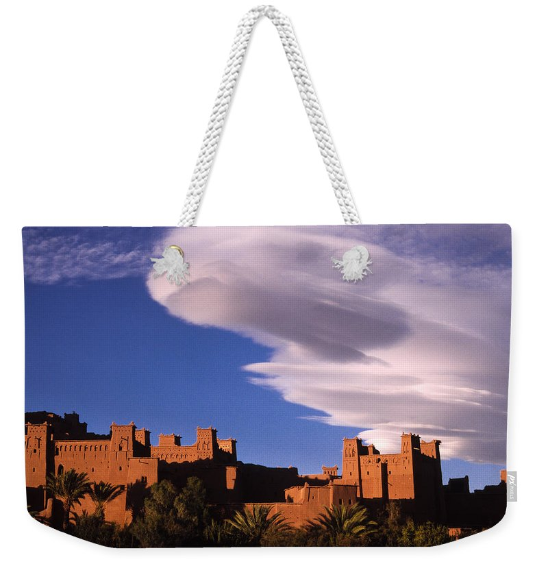 North Africa Weekender Tote Bag featuring the photograph Ait Benhaddou Casbah by Michele Burgess
