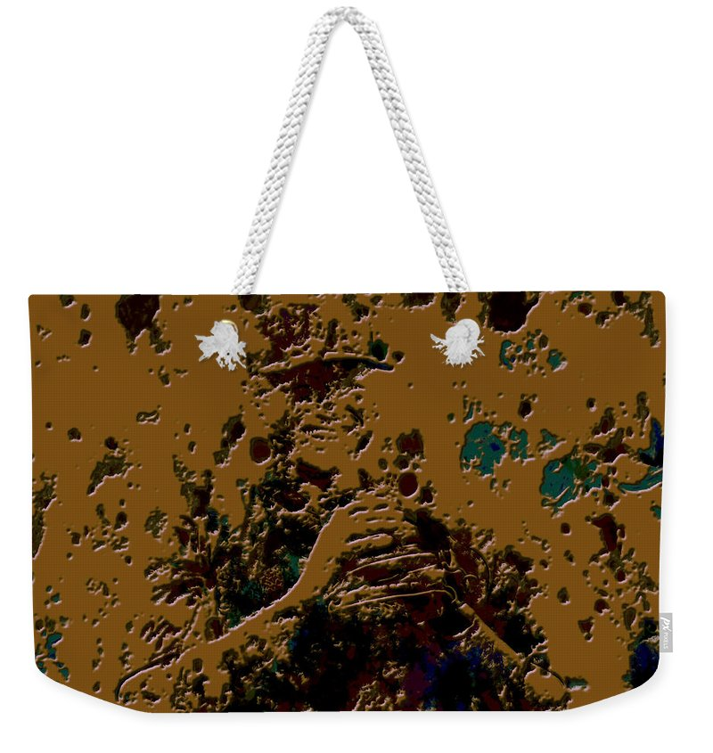 Alex Rodriguez Weekender Tote Bag featuring the mixed media Alex Rodriguez 2b by Brian Reaves