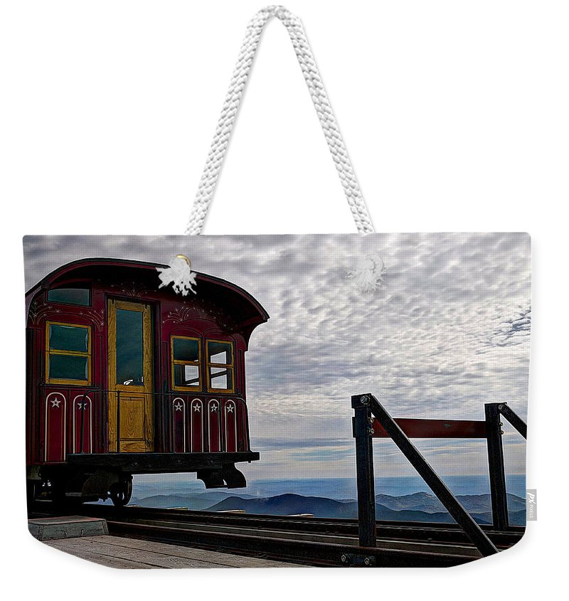 Washington Weekender Tote Bag featuring the photograph All Aboard by Deborah Klubertanz