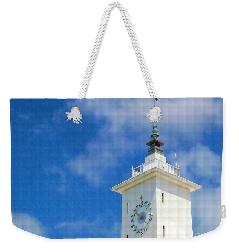 Clock Weekender Tote Bag featuring the photograph All Along The Watchtower by Debbi Granruth