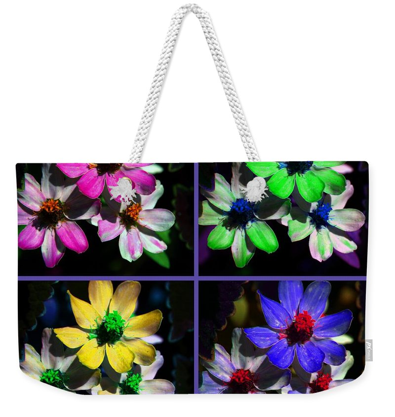 Flower Weekender Tote Bag featuring the photograph All For One by Susanne Van Hulst