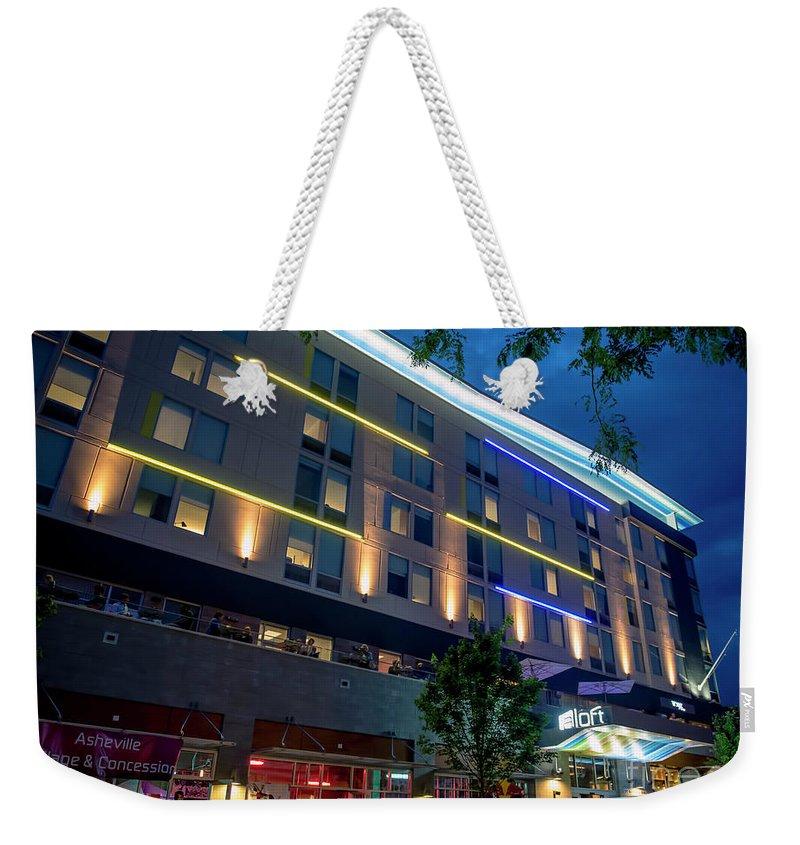 Aloft Asheville Downtown Weekender Tote Bag featuring the photograph Aloft Asheville Downtown by David Oppenheimer