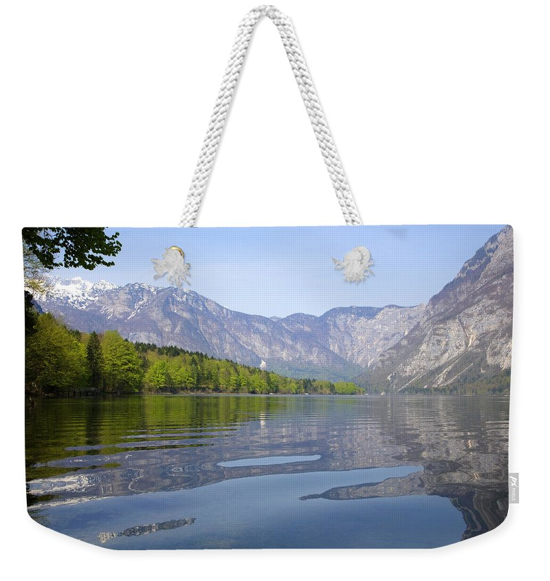 Spring Weekender Tote Bag featuring the photograph Alpine Clarity by Ian Middleton
