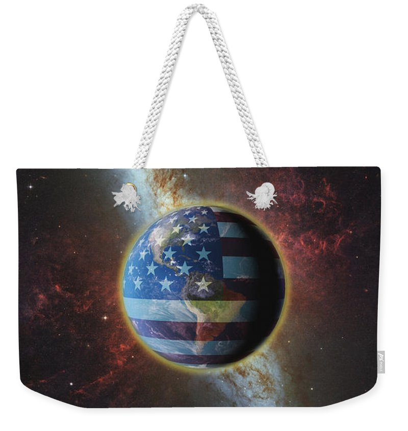 Influence Weekender Tote Bag featuring the photograph American Influence by George Mattei