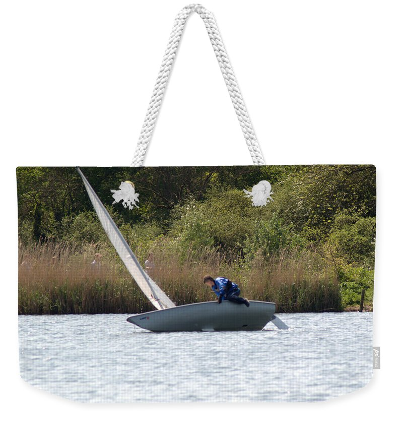 Dinghy Weekender Tote Bag featuring the photograph An Afternoons Sailing by Chris Day