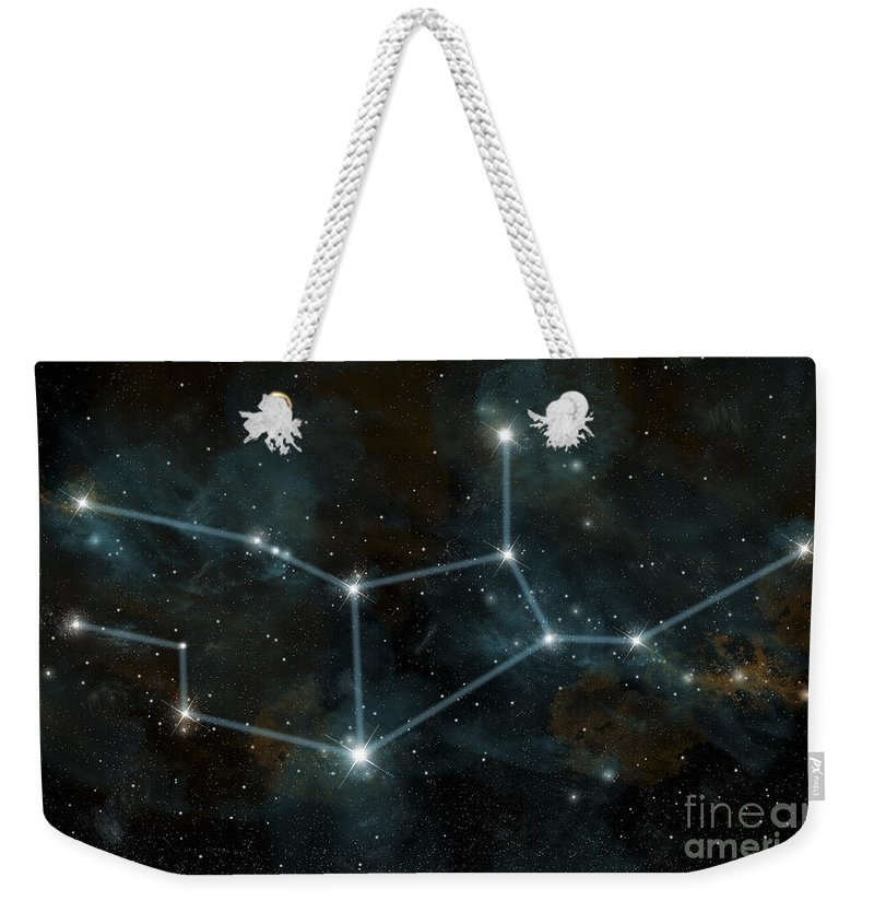Astrology Weekender Tote Bag featuring the digital art An Artists Depiction by Marc Ward