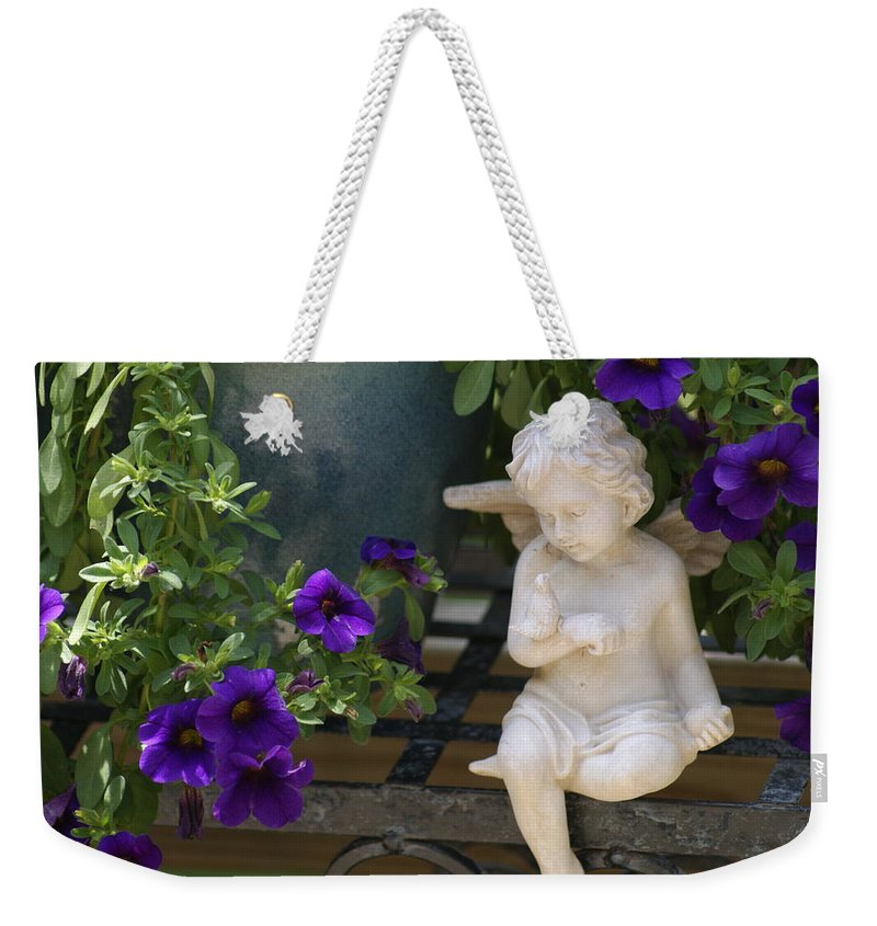 Yard Art Weekender Tote Bag featuring the photograph Angel by Heidi Poulin