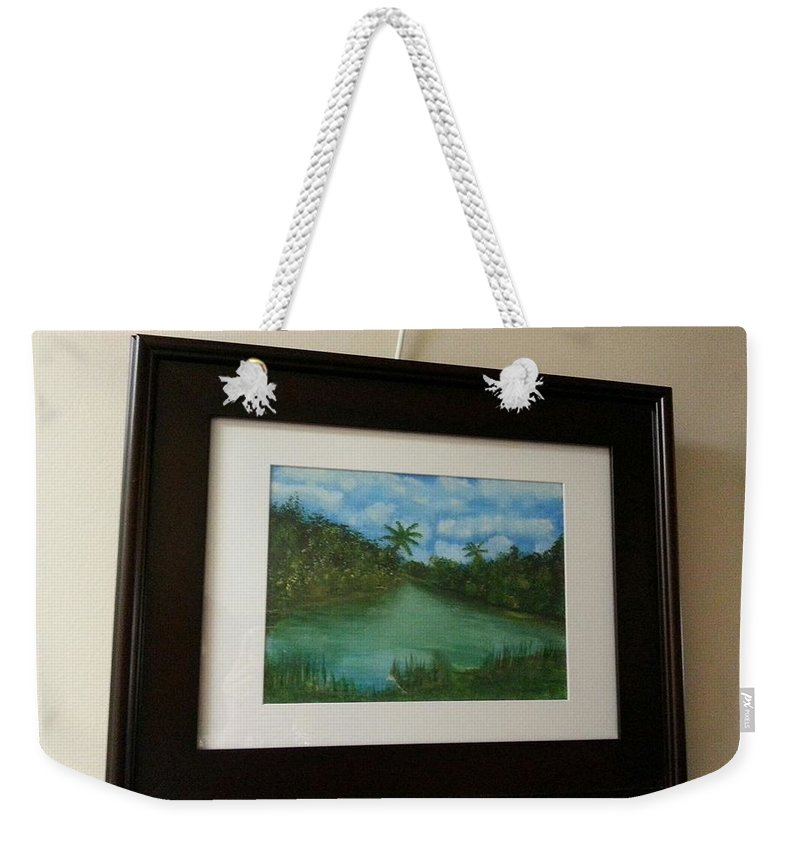 Framed Picture Weekender Tote Bag featuring the painting Antigua by Myrtle Joy
