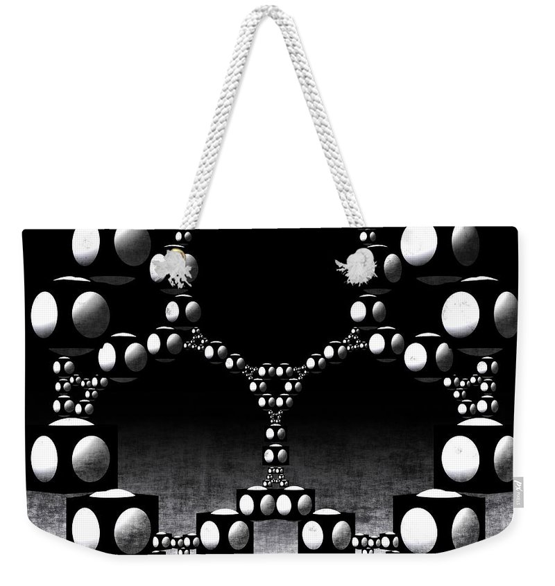 3d Weekender Tote Bag featuring the digital art Apollonian Gasket by Issabild -