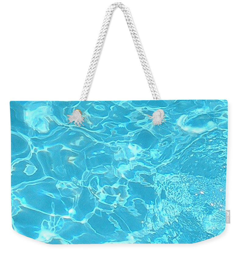 Water Weekender Tote Bag featuring the photograph Aquatica by Maria Bonnier-Perez