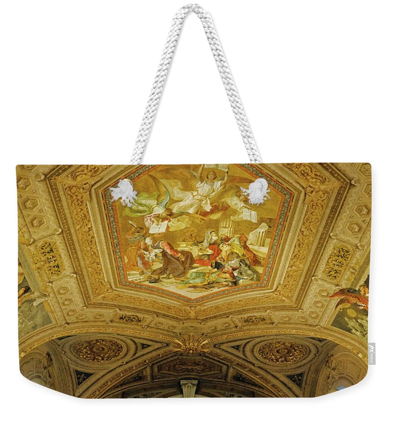 Vatican Weekender Tote Bag featuring the photograph Architectural Artistry Within The Vatican Museum In The Vatican City by Richard Rosenshein