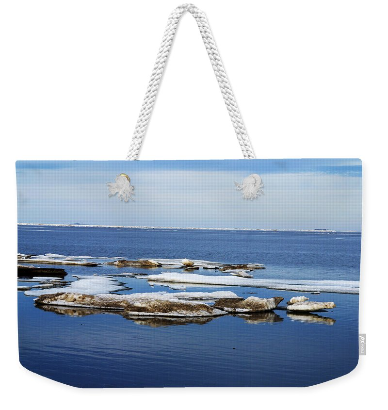 Ice Weekender Tote Bag featuring the photograph Arctic Ice by Anthony Jones