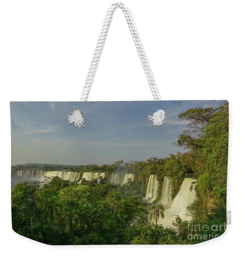 Iguacu Falls Weekender Tote Bag featuring the photograph Around The Bend by Brian Kamprath
