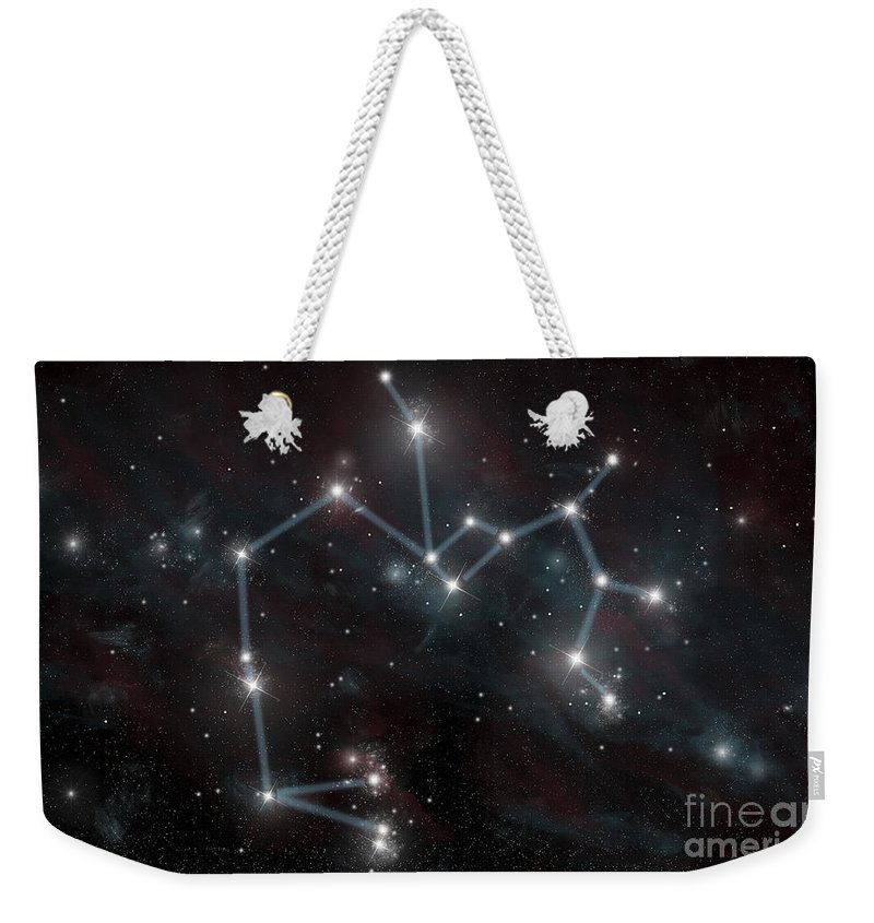 Archer Weekender Tote Bag featuring the digital art Artists Depiction Of The Constellation by Marc Ward
