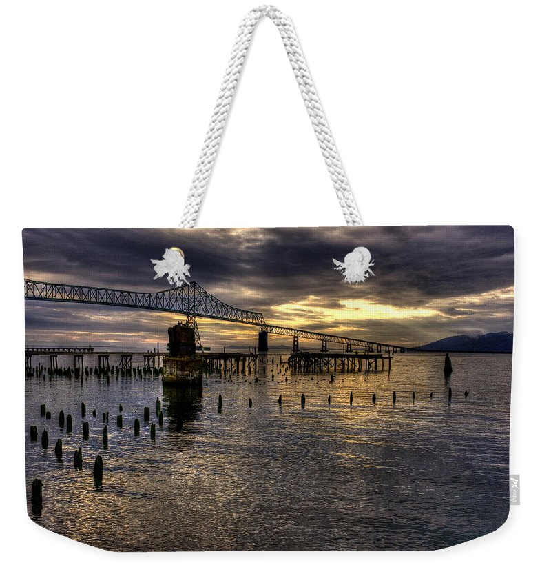 Oregon Coast Weekender Tote Bag featuring the photograph Astoria-megler Bridge 5 by Lee Santa