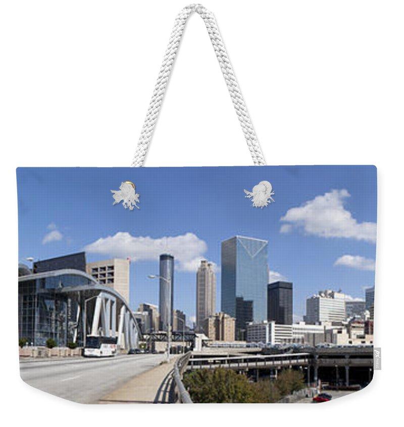 Panoramic Weekender Tote Bag featuring the photograph Atlanta Georgia by Anthony Totah