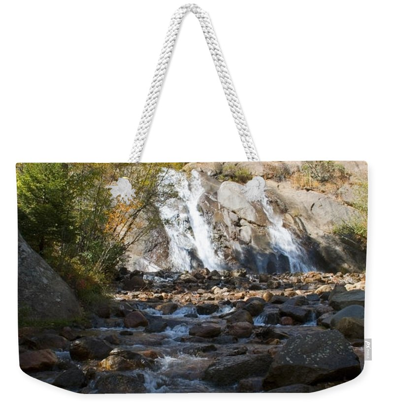 Helen Hunt Falls Weekender Tote Bag featuring the photograph Autumn At Helen Hunt Falls Colorado by Steve Krull