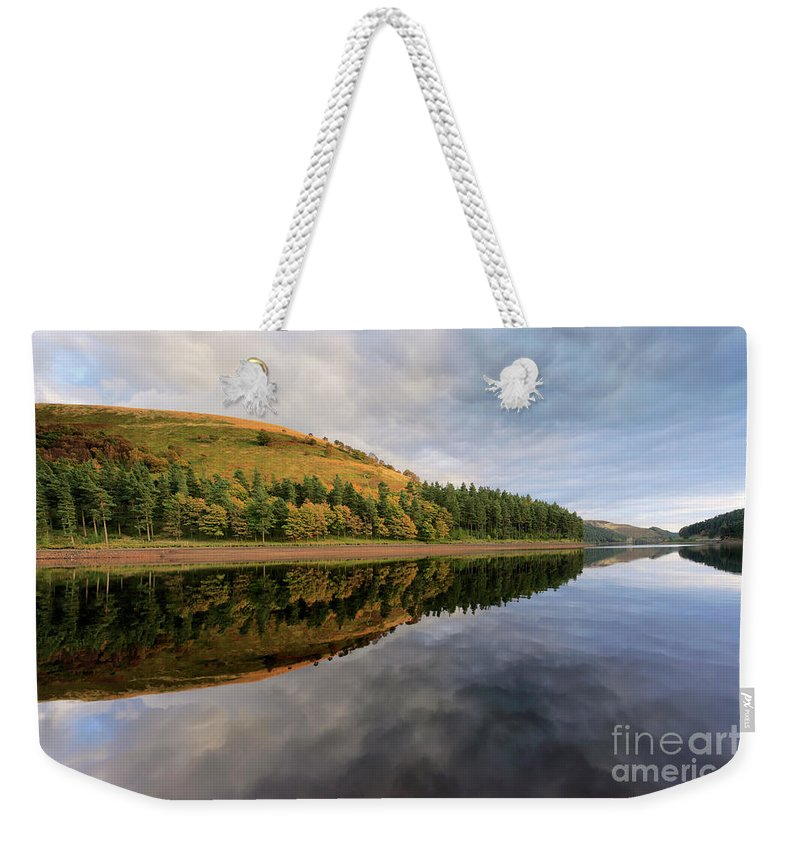 Autumn Weekender Tote Bag featuring the photograph Autumn Derwent Reservoir Derbyshire Peak District by Dave Porter
