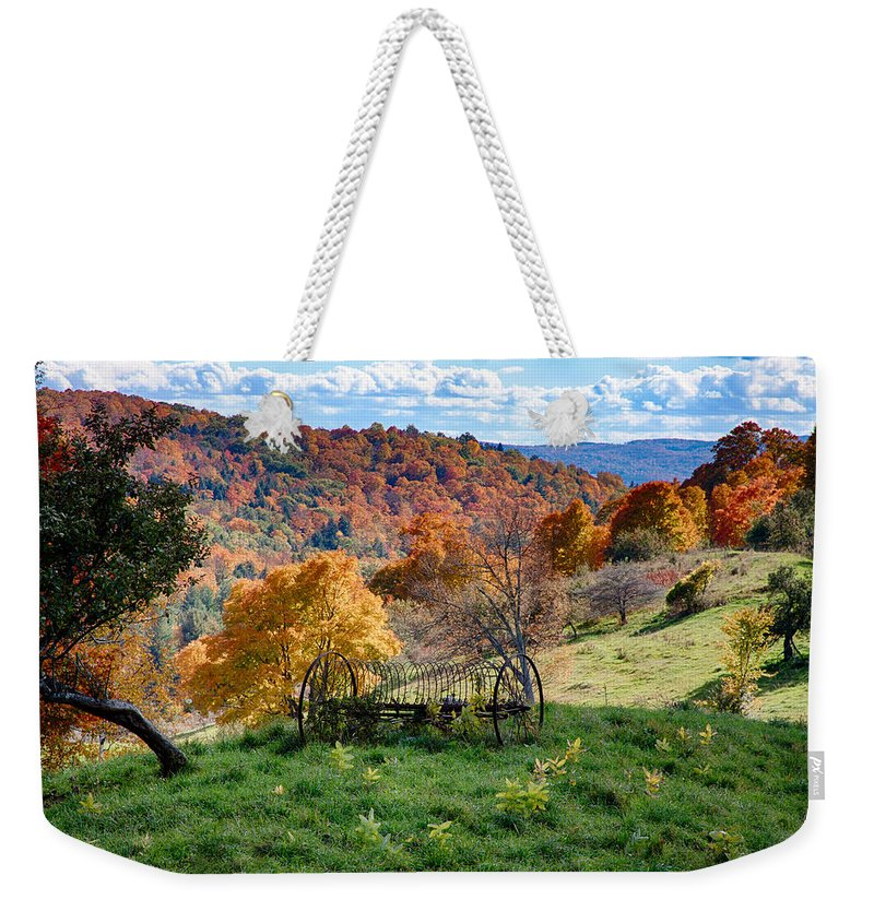#jefffolger Weekender Tote Bag featuring the photograph Autumn This Side Of Heaven by Jeff Folger