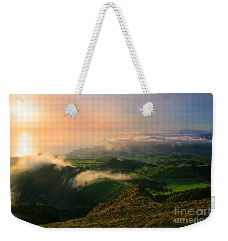 Coast Weekender Tote Bag featuring the photograph Azores Islands Landscape by Gaspar Avila