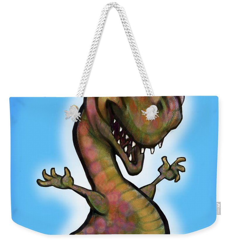Babyzilla Weekender Tote Bag featuring the greeting card Babyzilla by Kevin Middleton