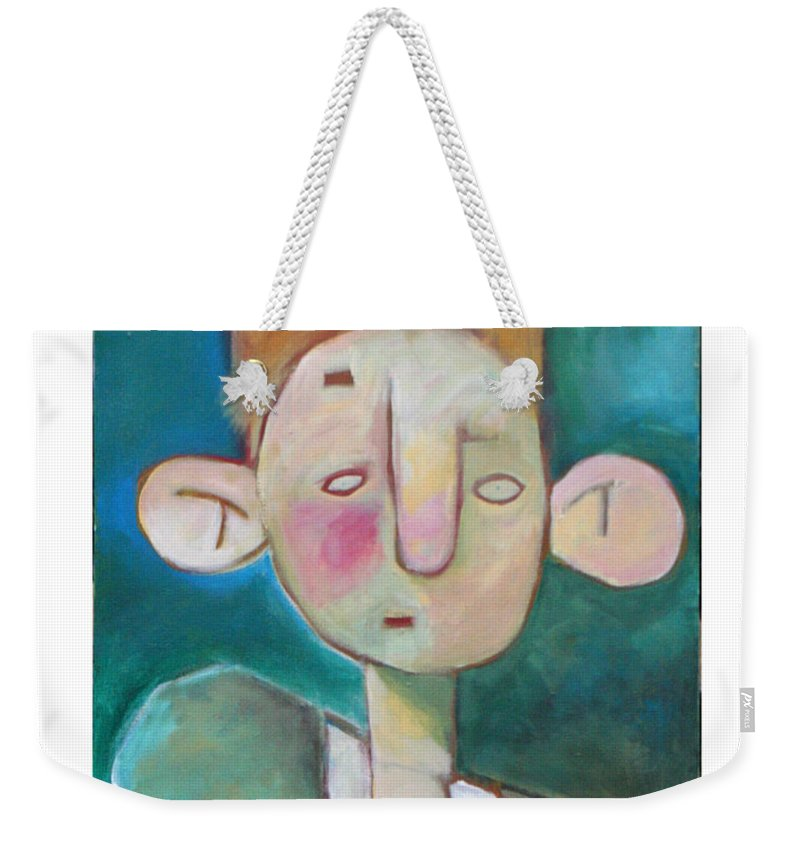 Funny Weekender Tote Bag featuring the painting Bad Hair Life by Tim Nyberg