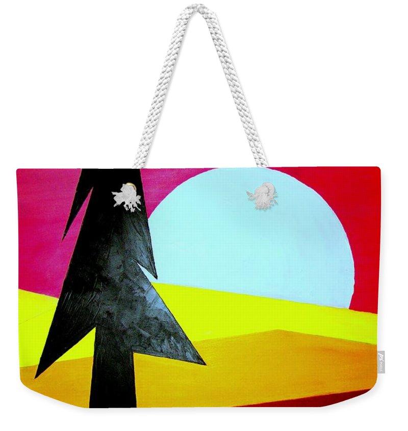 Moon Weekender Tote Bag featuring the digital art Autumn Moon Rise by J R Seymour