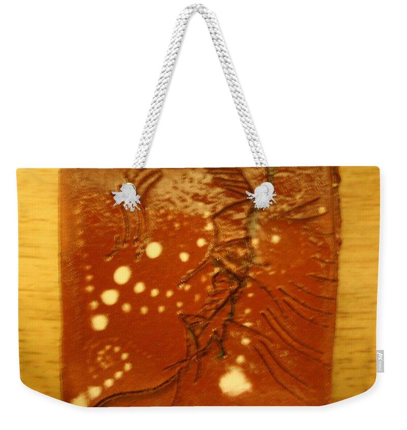 Jesus Weekender Tote Bag featuring the ceramic art Balance - Tile by Gloria Ssali